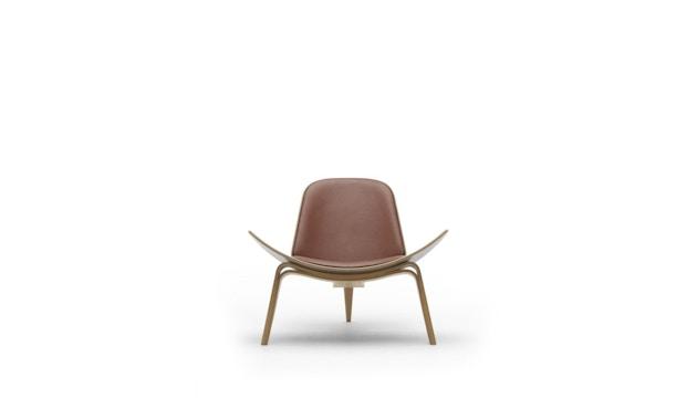Carl Hansen - CH07 Stuhl - Leder cognac - Gestell Eiche schwarz lackiert - 1
