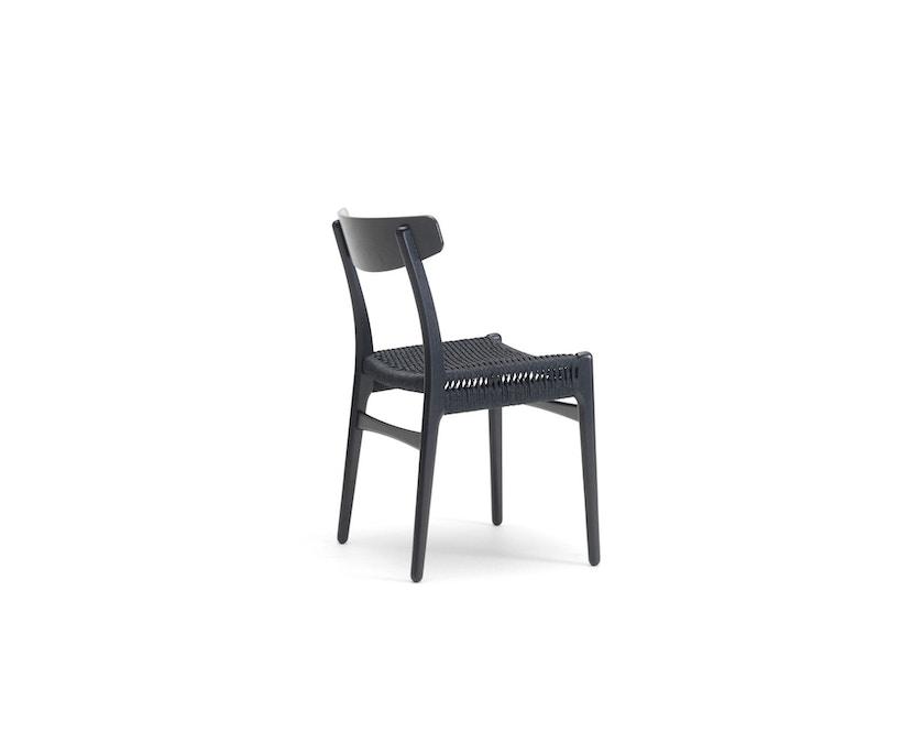 Carl Hansen - CH23 Stuhl - Eiche schwarz lackiert - Geflecht natur - 2