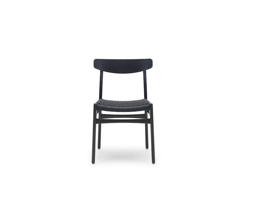 Carl Hansen - CH23 Stuhl - Eiche schwarz lackiert - Geflecht natur - 1