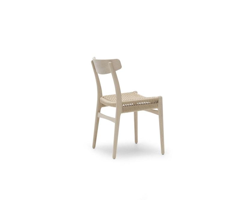 Carl Hansen - CH23 stoel - eiken gezeept - Vlecht natuur - 2