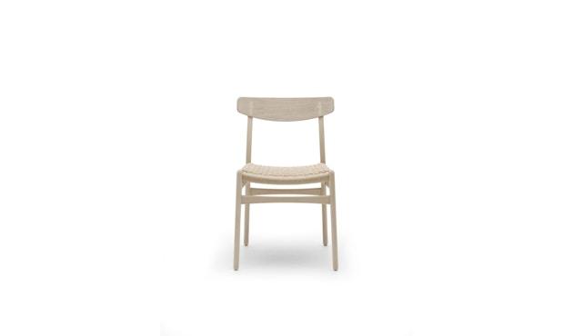 Carl Hansen - CH23 stoel - eiken gezeept - Vlecht natuur - 1