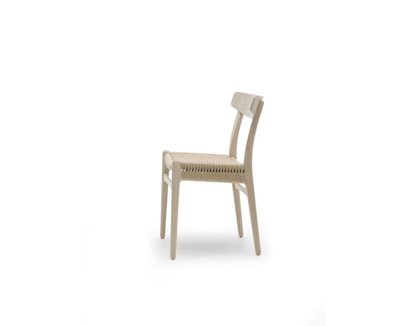 Carl Hansen - CH23 stoel - eiken gezeept - Vlecht natuur - 3