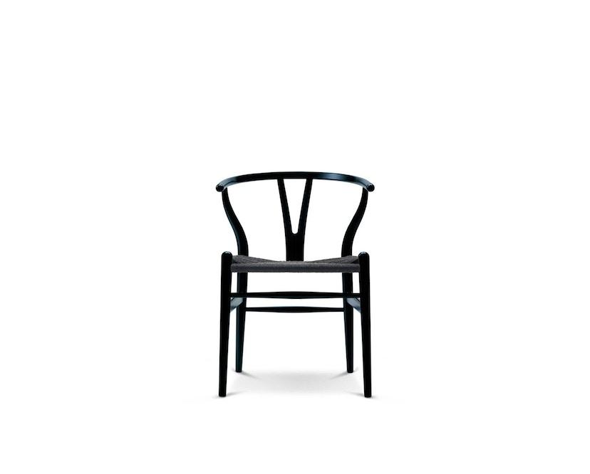 Carl Hansen - CH24 Y Wishbone Stuhl - Buche lackiert schwarz - Geflecht schwarz - 1