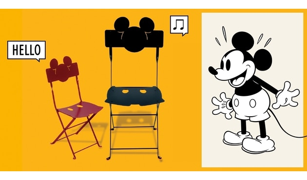 Fermob - Mickey Mouse© Bistro Stuhl - 67 Mohnrot - 2