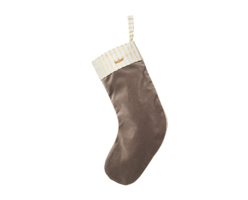 ferm LIVING - Weihnachtssocke Samt braun - 1