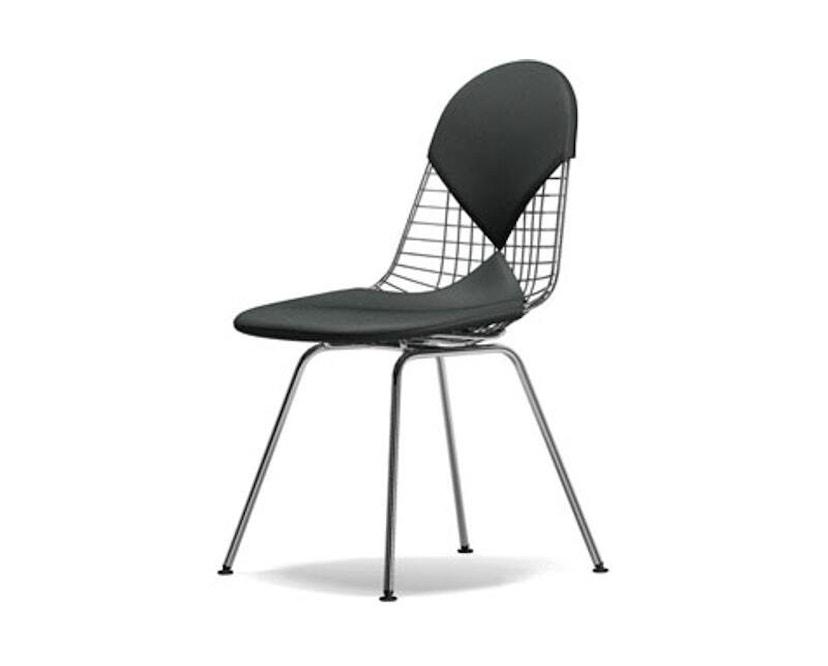 Vitra - Wire Chair DKX-2 - verchromt, Hopsak 05 dunkelgrau - Sitzhöhe 43 cm - 1