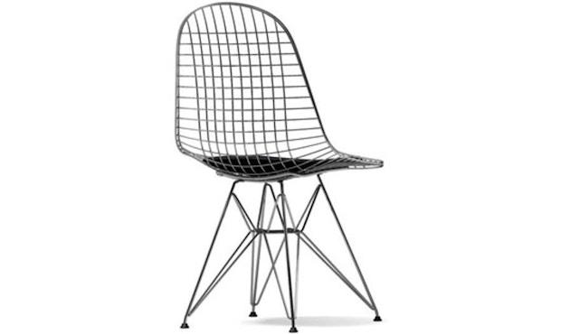 Vitra - Wire Chair DKR-5 - chromé - Hopsak - nero - 1