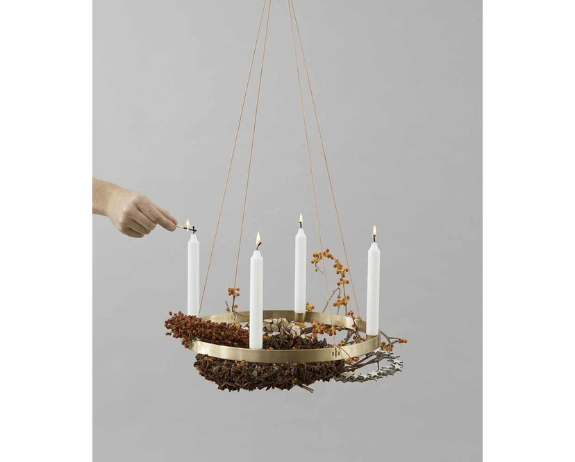 ferm LIVING - Circle Adventskranz - S - messing - 4