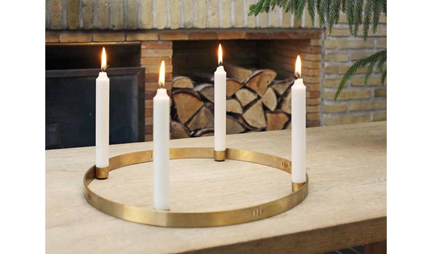 ferm LIVING - Circle Adventskranz - S - messing - 6