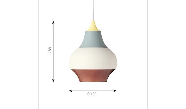 Louis Poulsen - Cirque hanglamp - mehrfarbig - M - kupferfarbenes Oberteil - geel bovenstuk - S - meerkleurig - 1
