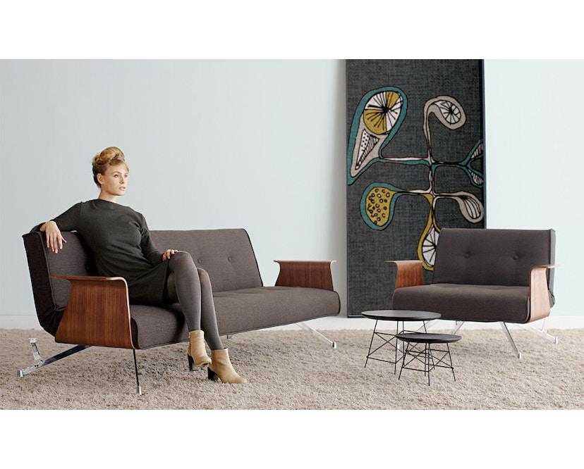 Innovation - Clubber Schlafsofa mit Armlehnen - Dess. 563 grau Charcoal Twist - 4