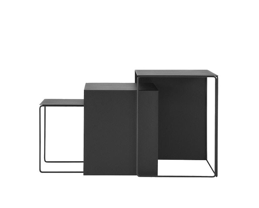ferm LIVING - Cluster Tische 3er-Set - schwarz - 1