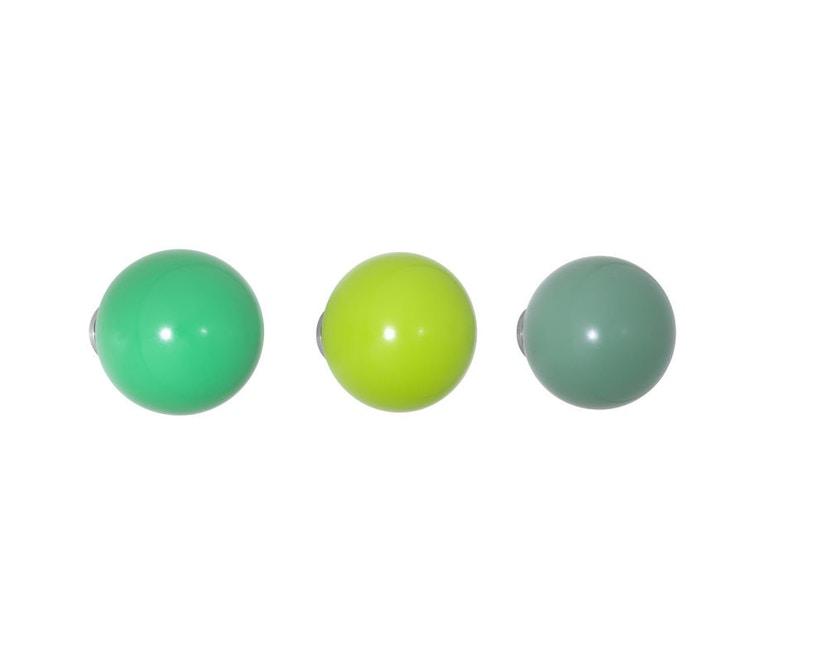 Vitra - Coat Dots Kleiderhaken - grün - 1