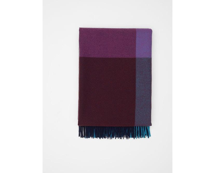 Vitra - Colour Block Decke - blue - bordeaux - 3
