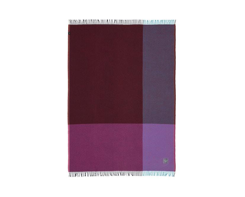 Vitra - Colour Block Decke - blue - bordeaux - 14