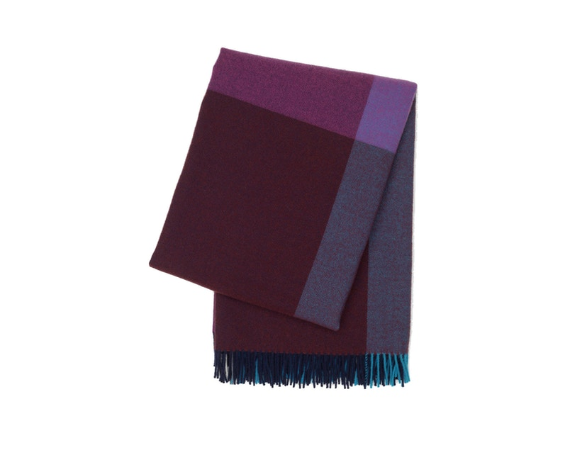 Vitra - Colour Block Decke - blue - bordeaux - 1