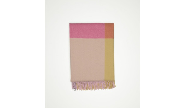 Vitra - Colour Block Decke - pink - beige - 4