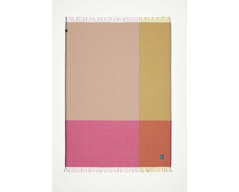 Vitra - Colour Block Decke - pink - beige - 8