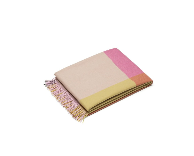 Vitra - Colour Block Decke - pink - beige - 13