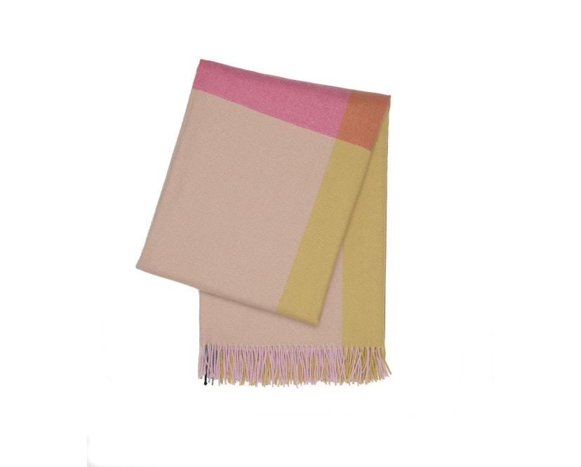 Vitra - Colour Block Decke - pink - beige - 1