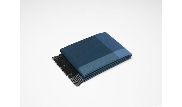 Vitra - Colour Block Decke - schwarz - blau - 3