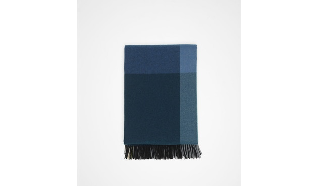 Vitra - Colour Block Decke - schwarz - blau - 4