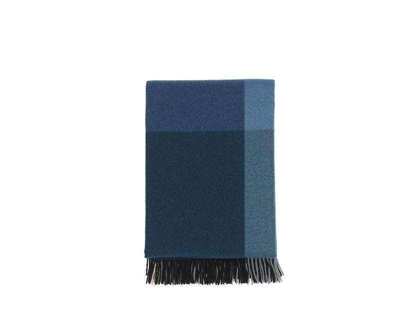 Vitra - Colour Block Decke - schwarz - blau - 13