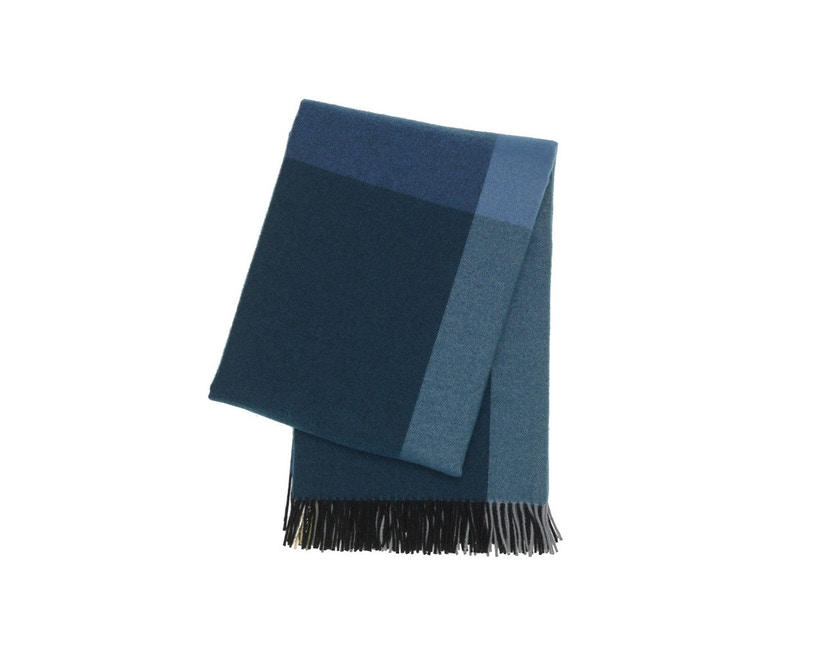 Vitra - Colour Block Decke - schwarz - blau - 1