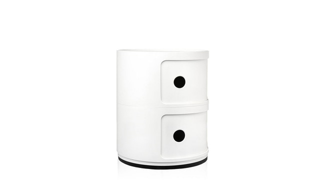 Kartell - Componibili Container - 2 Elemente  - weiß - 3