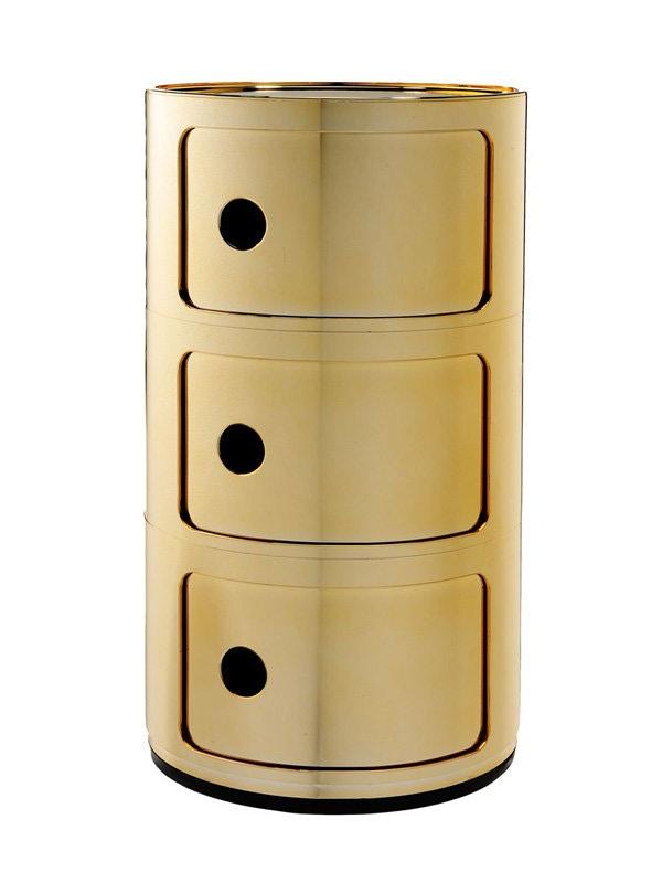 Kartell - Componibili Container - 3 elementen - goud - 11