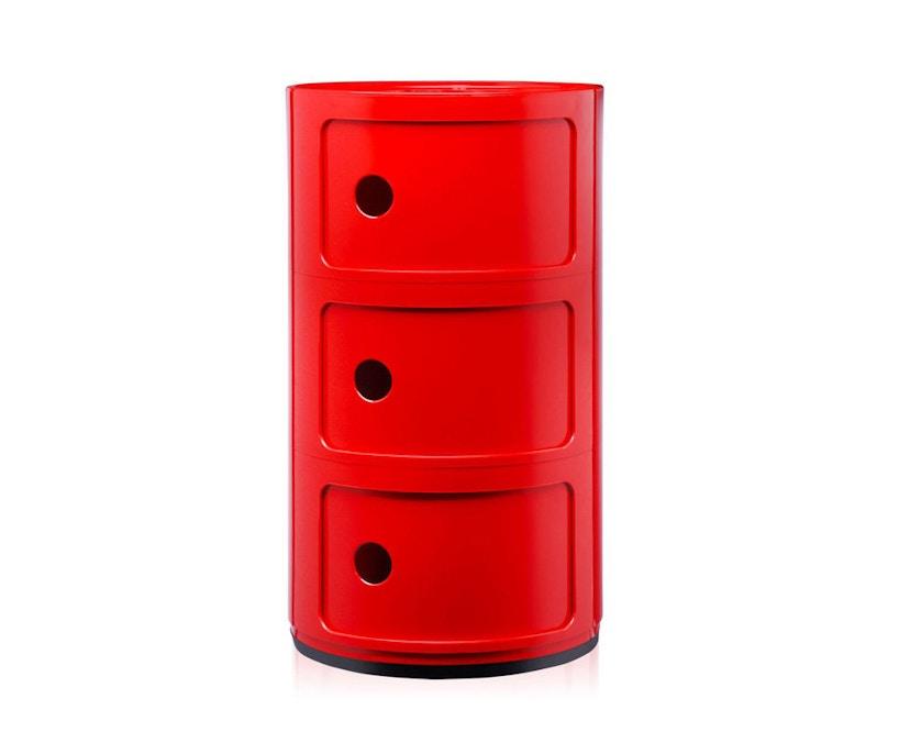 Kartell - Meuble de rangement Componibili - 3 compartiments - rouge - 1