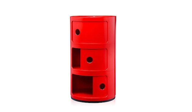 Kartell - Meuble de rangement Componibili - 3 compartiments - rouge - 3