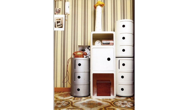 Kartell - Componibili Container - 2 Elemente  - weiß - 5