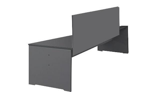 Conmoto - Bank Riva L - mit Rückenlehne 216x50 - anthrazit - 1