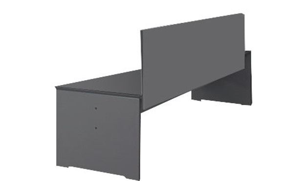 Conmoto - Bank Riva S - mit Rückenlehne 176x50 - anthrazit - 1
