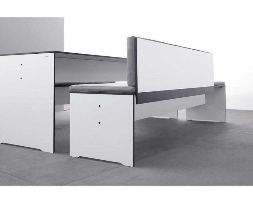 Conmoto - Rückenkissen Riva - für Bänke S+L mit Rückenlehne 160x30 - anthrazit - 4