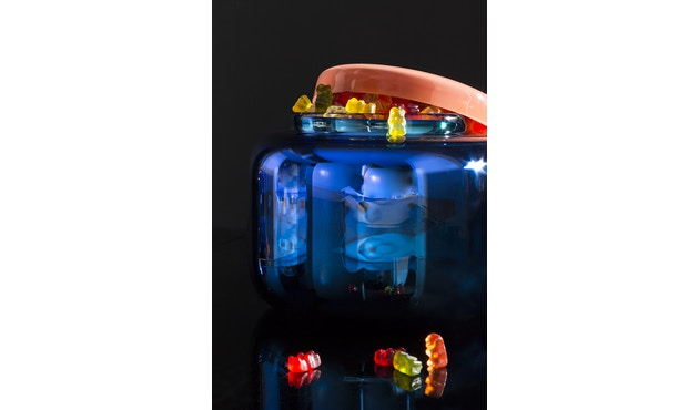 Pulpo - Container Vaas hoog - Blauw - 11
