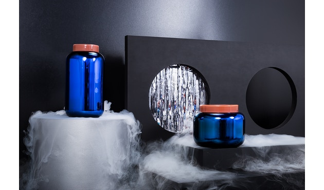 Pulpo - Container Vaas hoog - Blauw - 14