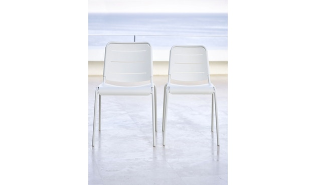 Cane-line - Copenhagen City Stuhl ohne Armlehne - olivegrün - 2