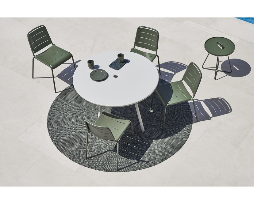Cane-line - Copenhagen City Stuhl ohne Armlehne - olivegrün - 4