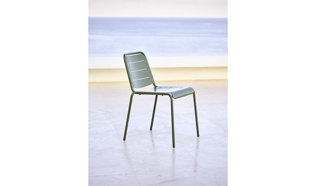 Cane-line - Copenhagen City Stuhl ohne Armlehne - olivegrün - 5