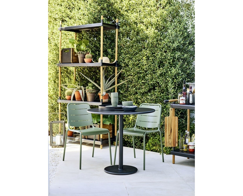 Cane-line - Copenhagen City Stuhl ohne Armlehne - olivegrün - 6