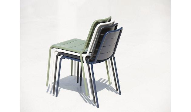 Cane-line - Copenhagen City Stuhl ohne Armlehne - olivegrün - 7