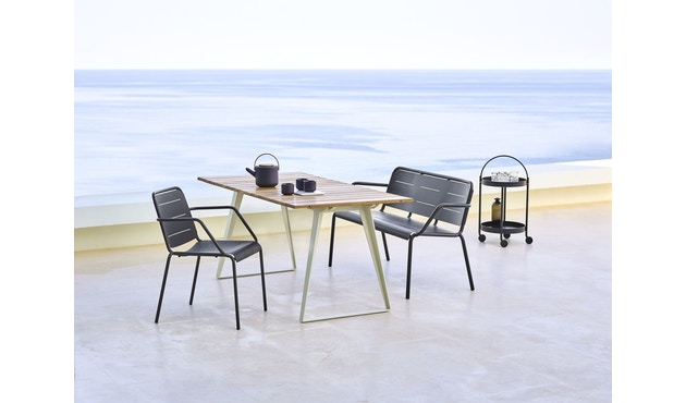 Cane-line - Copenhagen City Stuhl ohne Armlehne - olivegrün - 14