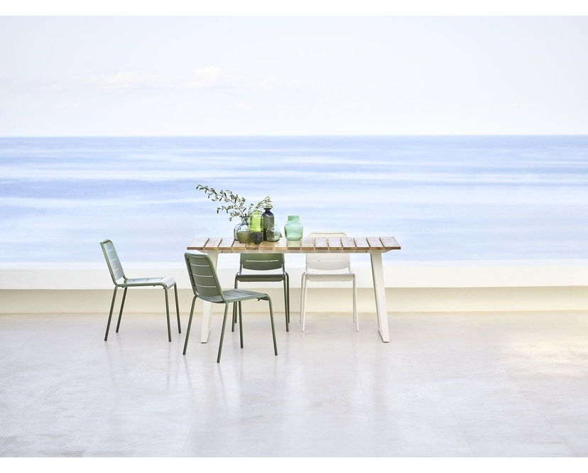 Cane-line - Copenhagen City Stuhl ohne Armlehne - olivegrün - 16