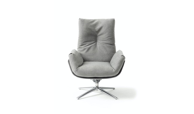 Cor - CORDIA Lounge Drehsessel Korpus Stoff, Kissen Stoff - braun - 1