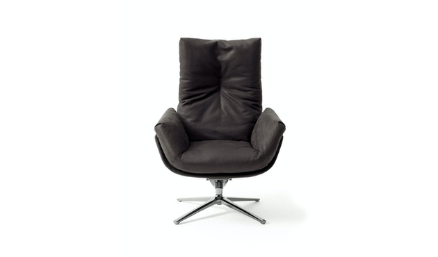 Cor - CORDIA Lounge Drehsessel, hoher Rücken,  Korpus Stoff, Kissen Stoff - braun - 1