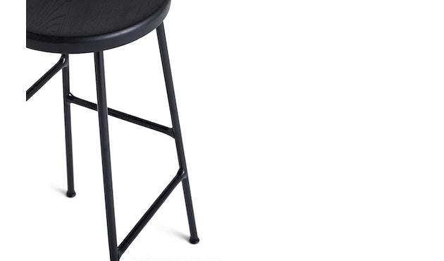 HAY - Cornet Bar Hocker - Räuchereiche - Gestell weiches schwarz - low - 3