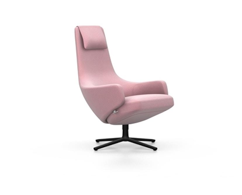 Vitra - Repos Sessel - Sitzhöhe 46 cm - Untergestell basic dark - Cosy2 zartrosé - 3