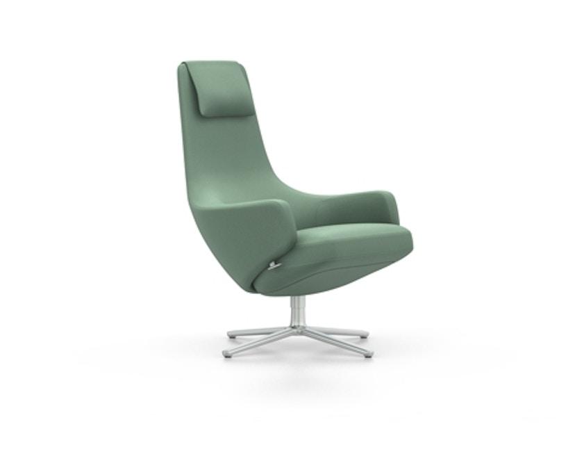 Vitra - Repos Sessel - Sitzhöhe 41 cm - Untergestell Aluminium poliert - Cosy2 schilfgrün - 3